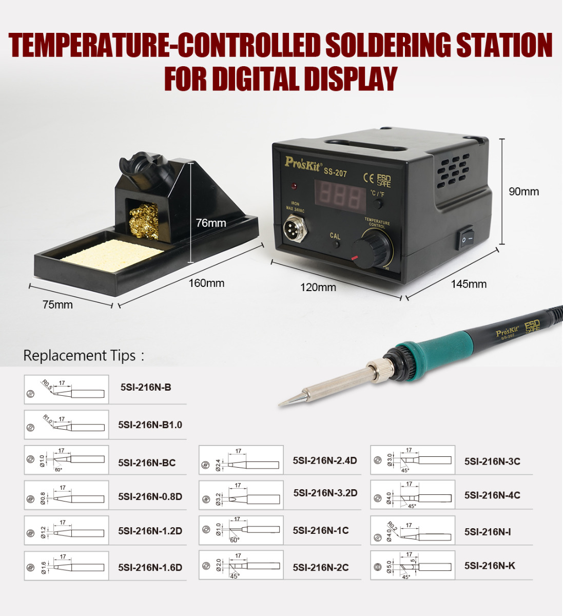 Temperature Controlled Digital Soldering Station